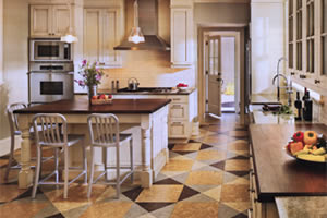 Cork Flooring in your kitchen. 100% Cork oak wood tiles for floors, walls or ceiling.